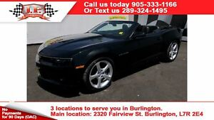 2015 Chevrolet Camaro LT, Leather, Convertible, 44,000km
