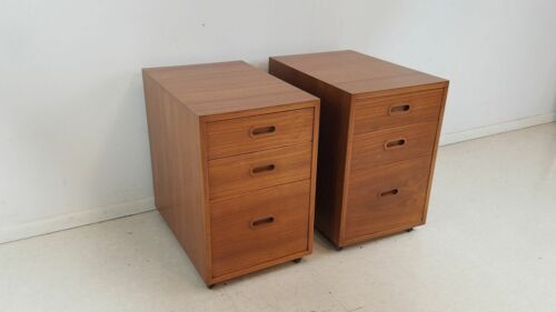 PAIR OF TEAK NIGHTSTANDS SMALL CHESTS BY BONNIERS MADE IN DENMARK