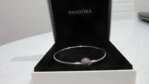 1 Silver Pandora Silver Bracelet with pink crystal bead Maroochydore Maroochydore Area Preview