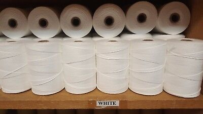 Rug Warp- Lot of 10 (1/2 lb ea) Spools- 8/4 Polyester- Color White