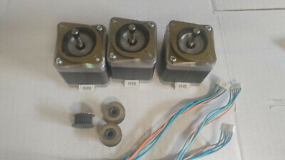 3 X Stepper Motor Nema 17 Wgt2 2mm Pulley - 76 Ozin Cnc Mill Robot Reprap P5vs