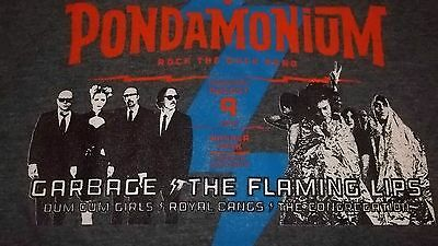 Pondamonium Concert with GARBAGE & The FLAMING LIPS T-Shirt Small Dum Dum Girls