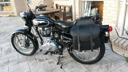 2014 ROYAL ENFIELD BULLET 500 - EFI with LEATHER SIDE PANNIERS Newcastle 2300 Newcastle Area Preview