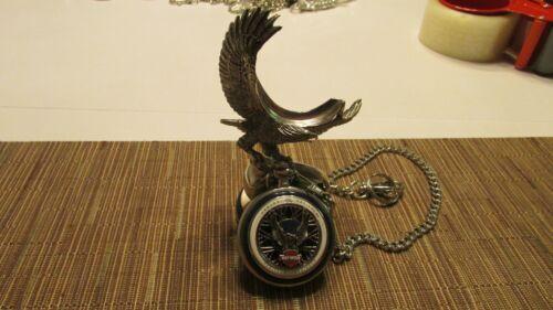 Franklin Mint Harley Davidson HERITAGE SPRINGER  Pocket Watch With Stand