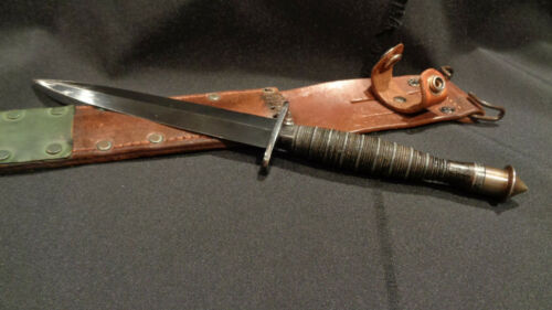 WWII FAIRBAIRN SYKES STILETTO DAGGER  RIBBED & ROPED  WW2 F/S FIGHTING KNIFE!!