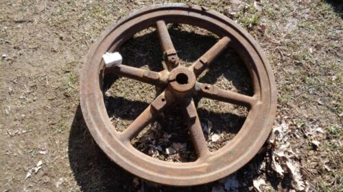 Cast Flywheel Hit And Miss Engine Lot Of Two 2