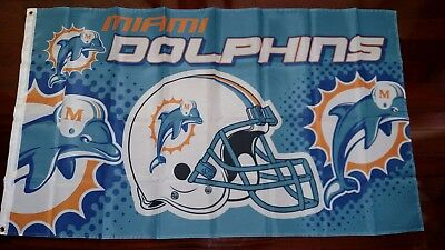 Miami Dolphins Flag (Miami Dolphins 3x5 Flag. US seller. Free shipping within the)