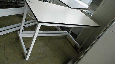 60w X 30d X 35h Cream Laminate Top Lab Benchtable W Castors Wheel Stops 2