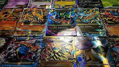 Pokemon TCG : 100 CARD LOT 10x HOLO, RARE & GUARANTEED EX, MEGA OR FULL ART