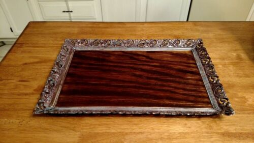 Antique Wooden Serving Tray - Handmade