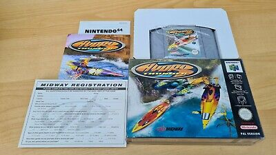 Very Good Condition - HYDRO THUNDER - RARE - Nintendo 64 N64 PAL complete