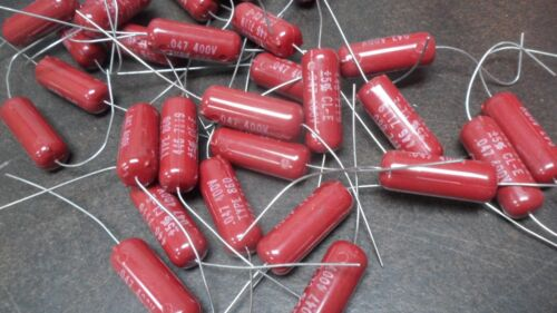 10 X )  Vintage Good All  Made in 1971  .047 @ 400V Capacitors