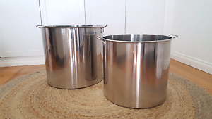 Large Stainless Steel Pots Seaholme Hobsons Bay Area Preview