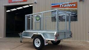7x4  GALVANISED Caged Trailer (single axle) Para Hills West Salisbury Area Preview