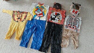 Vtg Ben Cooper Collegeville Costume Lot Skeleton Lion Tom & Jerry Bugs Bunny
