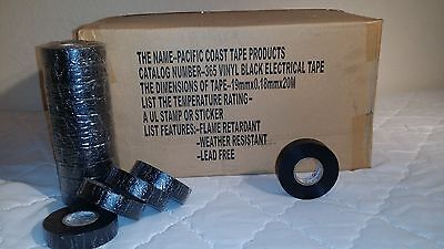 Pack Of120 Electrical Tape Black 34 By 66ft