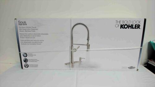 Kohler Sous K-R10651-SD-VS Pro Style Pull Down Sprayer Kitchen Faucet Stainless
