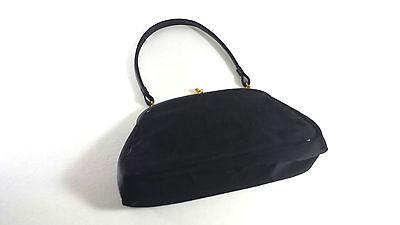 Louis Coblentz Vintage Black Purse w/Satin Change Purse Handbag