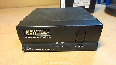 NewStar NS-231 KVM switch, 2-Port, PS/2 2048x1536 @ 85Hz 400Mhz - EXCL PSU