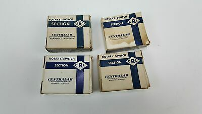Selection Of Centralab Ceramic Rotary Switch Section - Nos - Nsd S Td Vd