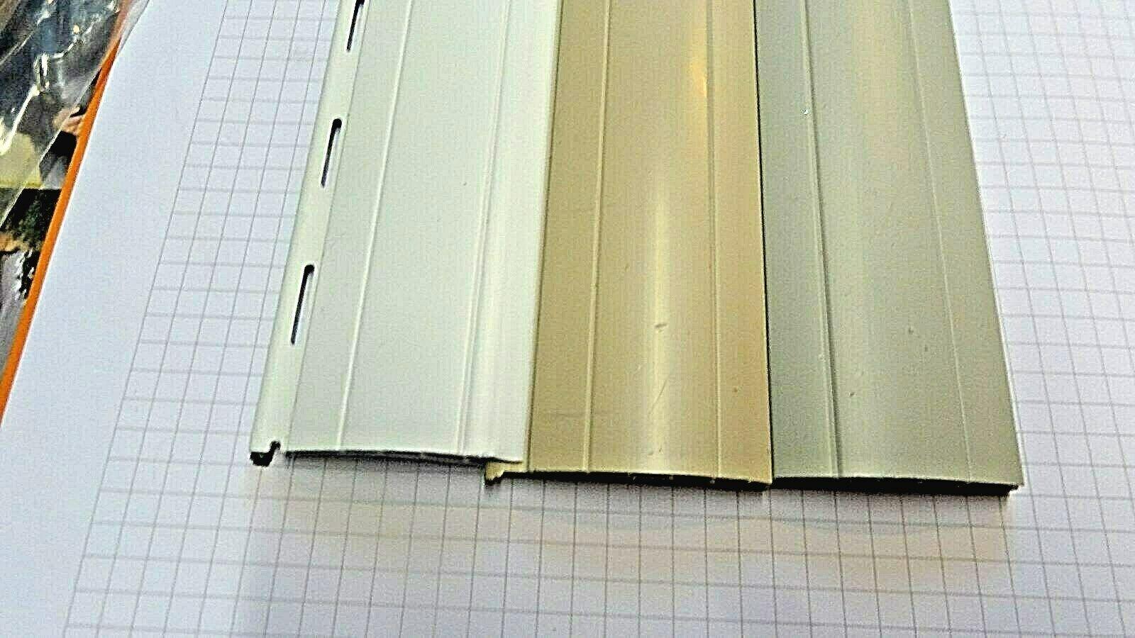 4 x PVC Rolladenlamelle Ersatz Rollladen Rollladenpanzer 137 mm Neu in 4 Breiten