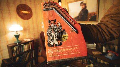 Vintage German MUSIMA Small String Harp Lute 1970