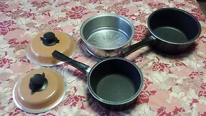 Bessemer Saucepans 1.6  and 2.5 Litre, Lids, BONUS Steamer Set Williamstown Hobsons Bay Area Preview