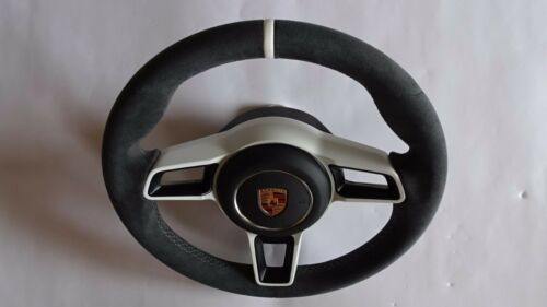 991 997.2 Gt 3 Rs Stick  Alcantara  Steering Wheel White Top & Center +  Airbag