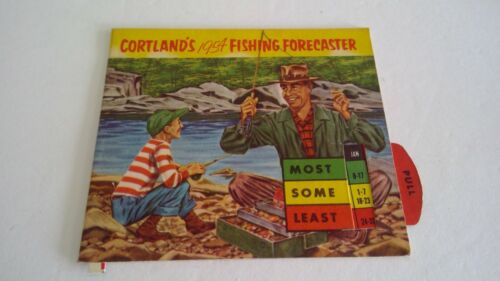 Vintage 1954 Cortland Fishing Forecaster & Tackle Guide