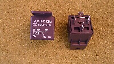 2 Pcs Car Power Relay 961a-1c-12dm 40a 12v Coil