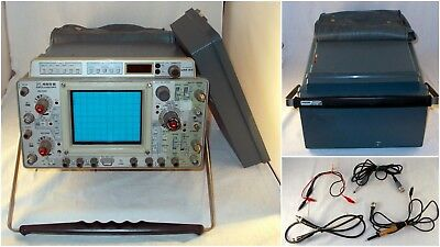 Tektronix 465b 100mhz Dual Trace Oscilloscope With Dual Time-bases Extras