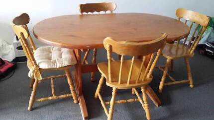 Dining Suite.  Pine table & chairs in good condition.  Must sell