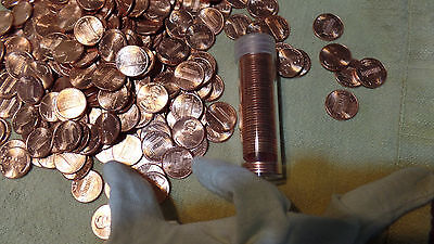 2001 P One (1)  Roll of Unc. Lincoln Cent Penny Uncirculated From U.S. Mint Bag