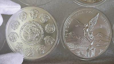 2014 5OZ SILVER LIBERTAD MEXICAN COIN BU IN AIR TITES CAPSU KEY DATE 6400 MINTED