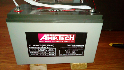 Amp tech  12 volt 120amp battery hardly used and fully charged