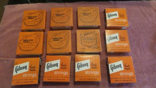 Vintage Gibson Mona steel Strings, 13 Boxes, 51 Strings