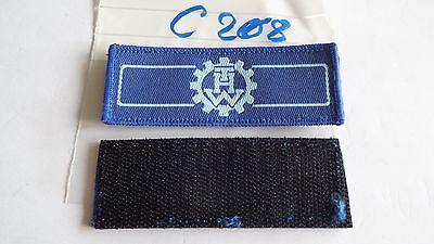 THW Rangabzeichen blau auf hellblau Helfer mit Klett 2 Stück (c208)je2,90