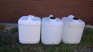 20 litre plastic water containers Padbury Joondalup Area Preview