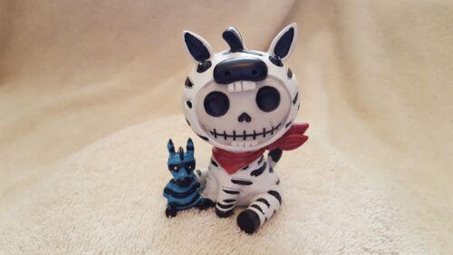 FURRYBONES Zeebie the Zebra Figurine Skull in Costume Collect New Free Shipping