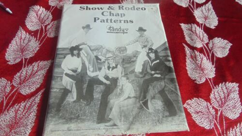 tandy leather Pattern show chaps pattern new unopened!