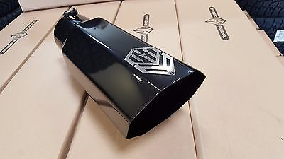 """OFFROAD ARSENAL 5"""" INLET 7"""" OUTLET 18"""" OCTAGON DIESEL EXHAUST TIP GLOSS BLACK T"""