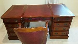 Partner Desk Double Sided Antique Reproduction Brighton East Bayside Area Preview