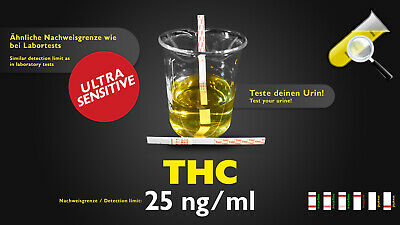 5x THC Urin Teststreifen Drogentest Cannabis Haschisch Marihuana  **TOPSELLER**