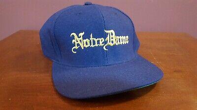 Notre Dame Cap Hat Reebok 100% Pure Wool Vintage 80's