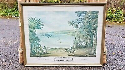 Vintage framed print A prospect of Ora Cabeca in the parish of St maries Jamaica