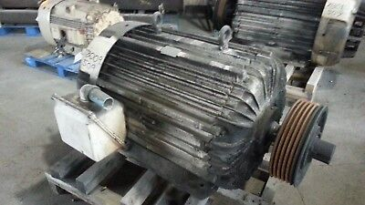 100 HP Delco Electric Motor, 1140 RPM, L507Y Frame, TEFC, 440 V, Design D