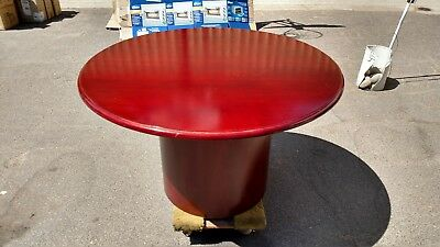 48 Round Conferenceexecutive Cherrywood Table Wwood Base We Deliever Local Ca