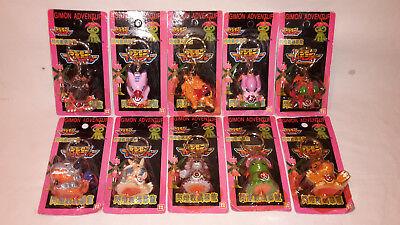 Digimon Adventure Schlüsselanhänger mit Licht 10 verschiedene Original von 2000