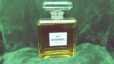 """Vintage Perfume Bottle Chanel no. 5 """"DUMMY"""" Huge. 8 & 3/8 inches tall. Glass."""