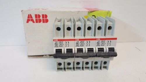 BOX OF 3 NEW ABB 2-POLE 25A MIN CIRCUIT BREAKERS 2CD-S272-317R0517 S-202UP K25A